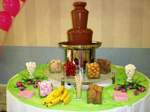 συντριβάνι σοκολάτας
